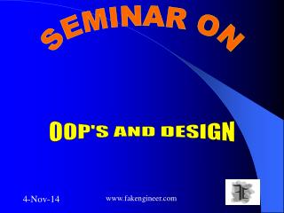 OOP'S AND DESIGN