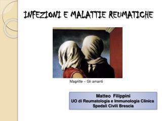 INFEZIONI E MALATTIE REUMATICHE