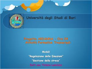 Universit  degli Studi di Bari