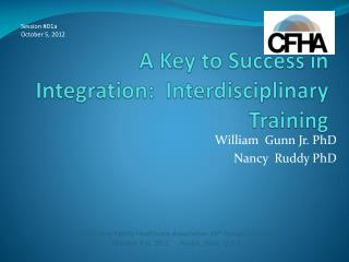 A Key to Success in Integration:  Interdisciplinary Training