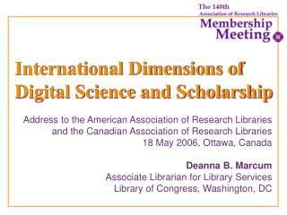International Dimensions of Digital Science and Scholarship