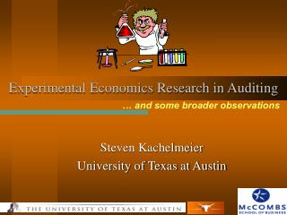 Experimental Economics Research in Auditing