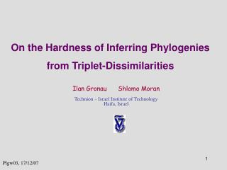 On the Hardness of Inferring Phylogenies from Triplet-Dissimilarities