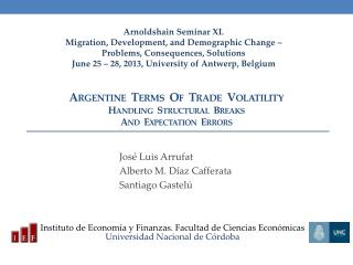 Argentine  Terms  Of  Trade  Volatility  Handling  Structural  Breaks  And  Expectation  Errors