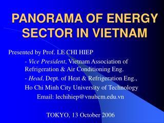 PANORAMA OF ENERGY SECTOR IN VIETNAM