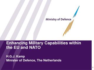 Enhancing Military Capabilities within                                          the EU and NATO