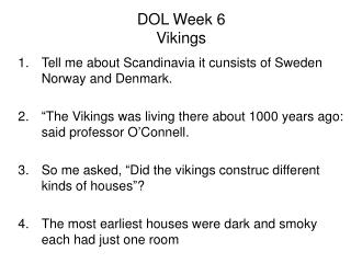 DOL Week 6 Vikings