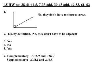 1.5 HW pg. 38-41 #1-5, 7-33 odd, 39-43 odd, 49-53, 61, 62