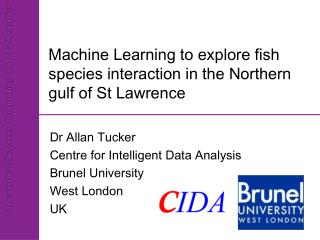Machine Learning to explore fish species interaction in the Northern gulf of St Lawrence