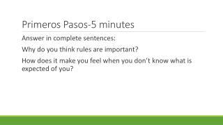Primeros  Pasos-5 minutes