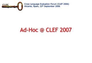 Ad-Hoc @ CLEF 2007