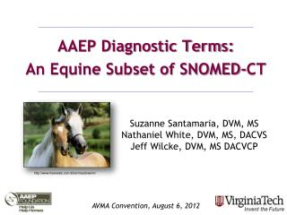 AAEP Diagnostic Terms: An Equine Subset of SNOMED-CT