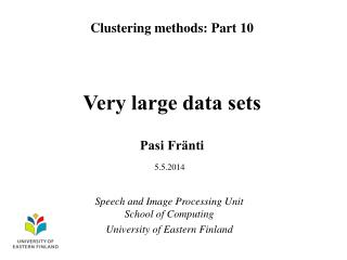 Very large data sets