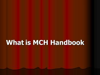 What is MCH Handbook