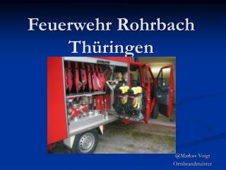 Feuerwehr Rohrbach Th ringen