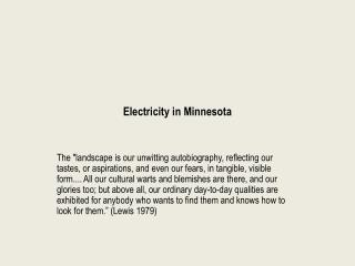 Electricity in Minnesota