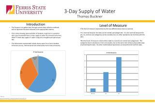 3-Day Supply of Water Thomas Buckner