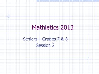 Mathletics 2013