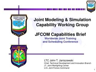 Joint Modeling  Simulation Capability Working Group