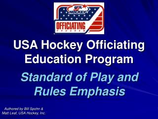 USA Hockey Officiating Education Program