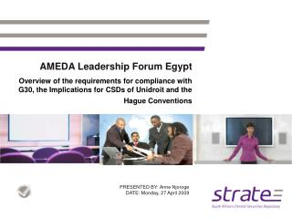 AMEDA Leadership Forum Egypt