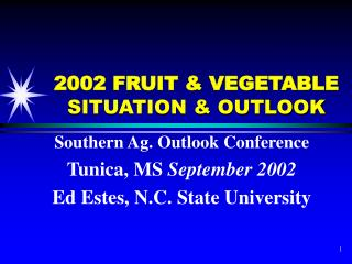 2002 FRUIT & VEGETABLE  SITUATION & OUTLOOK