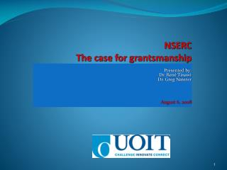 NSERC The case for  grantsmanship
