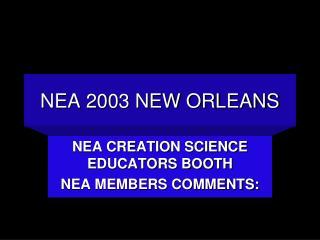 NEA 2003 NEW ORLEANS