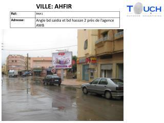 VILLE: AHFIR