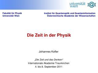 Die Zeit in der Physik