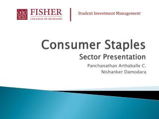 Consumer Staples Sector Presentation