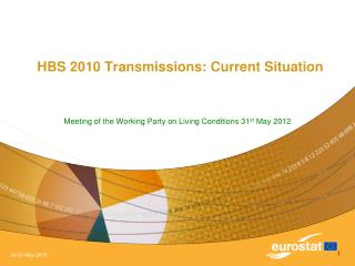 HBS 2010 Transmissions: Current Situation