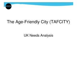The Age-Friendly City (TAFCITY)