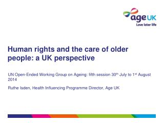 Human rights and the care of older people: a UK perspective