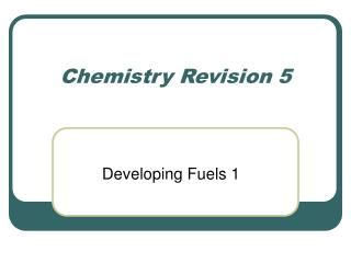 Chemistry Revision 5