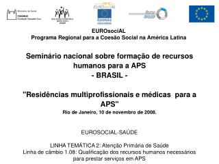 EUROsociAL  Programa Regional para a Coesão Social na América Latina