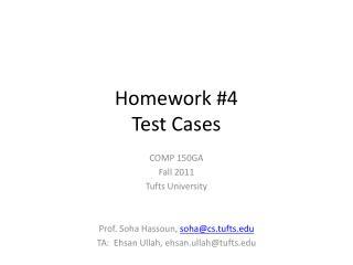 Homework # 4 Test Cases
