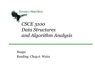 CSCE 3100 Data Structures  and Algorithm Analysis