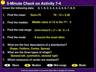 5-Minute Check  on Activity 7-4