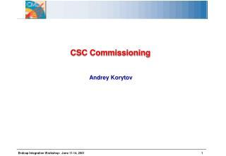 CSC Commissioning