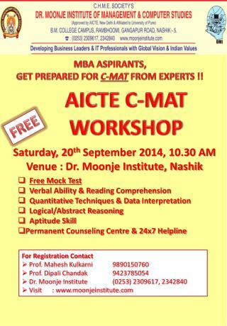 AICTE C-MAT WORKSHOP