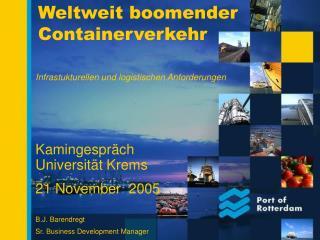 Weltweit boomender Containerverkehr