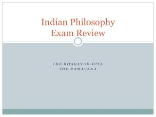 Indian Philosophy Exam Review