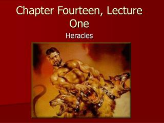 Chapter Fourteen, Lecture One
