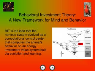 Behavioral Investment Theory: A New Framework for Mind and Behavior