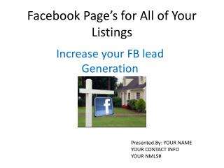 Facebook  Page's for All of Your Listings