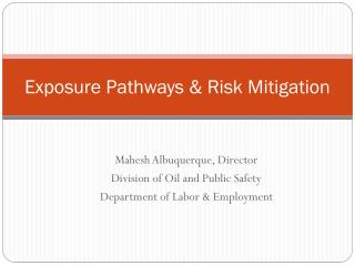 Exposure Pathways & Risk Mitigation