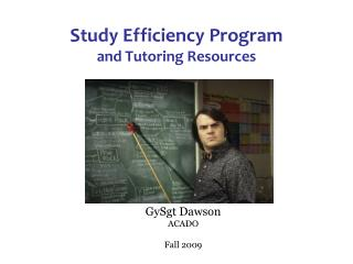 Study Efficiency Program and Tutoring Resources