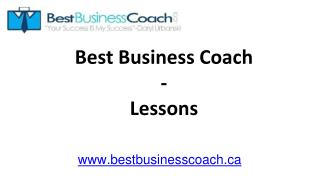 Best Business Coach - Lessons