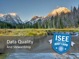 Data Quality  And Stewardship